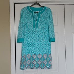 Talbots cabana life collection printed dress Large